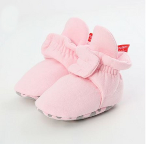 Pink Cotton Non Slip Cozy Sock Shoes