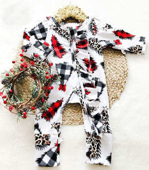 Baby Leopard Trees Holiday Zipper Convertible Sleepers