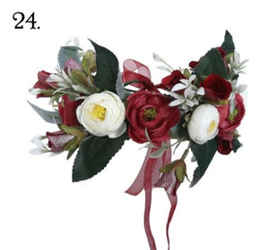 Floral Wreath - Red & White