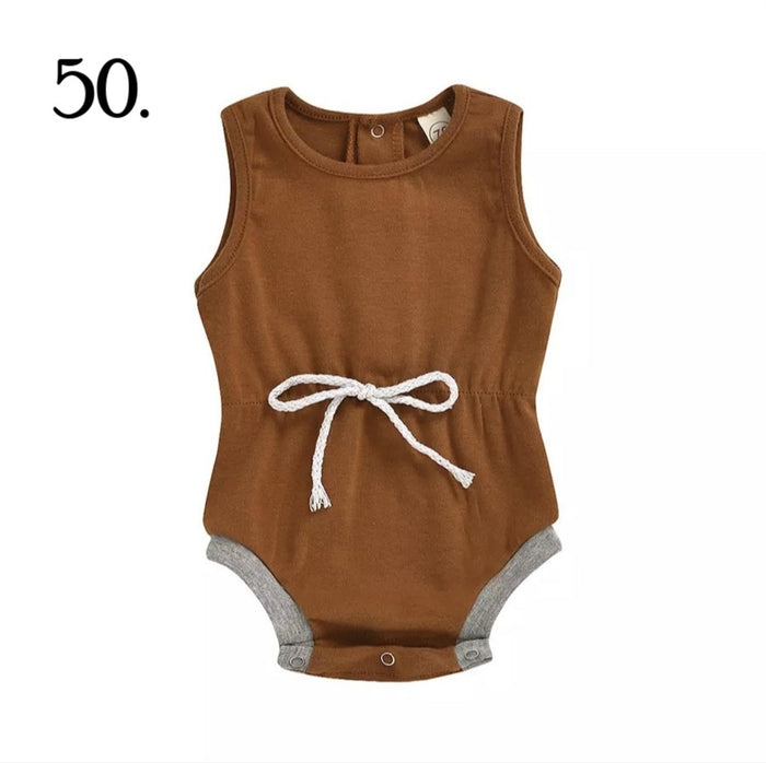 Brown Jogger Summer Romper