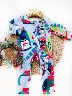 Baby Ugly Sweaters Holiday Zipper Convertible Sleepers
