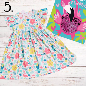 Hawaiian Flamingo Summer Dress