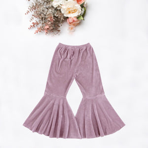 Dusty Rose Velvet Boho Bell Bottoms