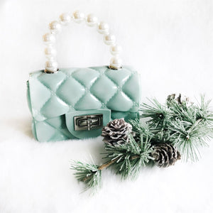 Green Jelly Pearl Cross Body Purse
