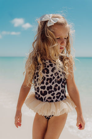 Girls Bathing Suits - Luna Leopard