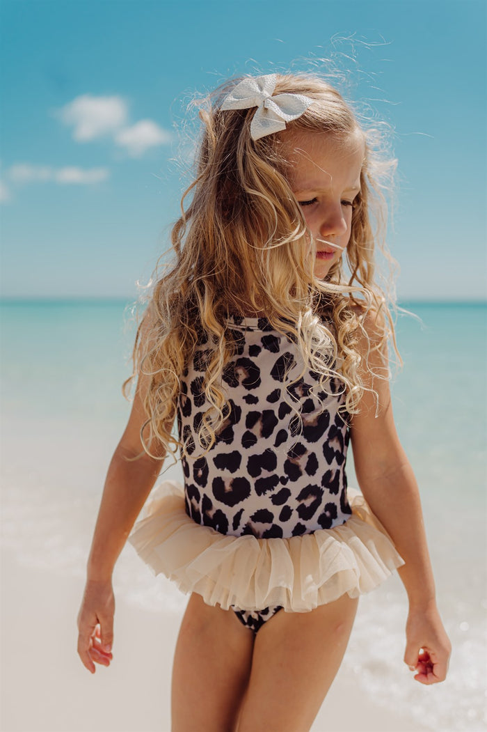 Girls Bathing Suits - Luna Leopard - 1 Pc Tutu
