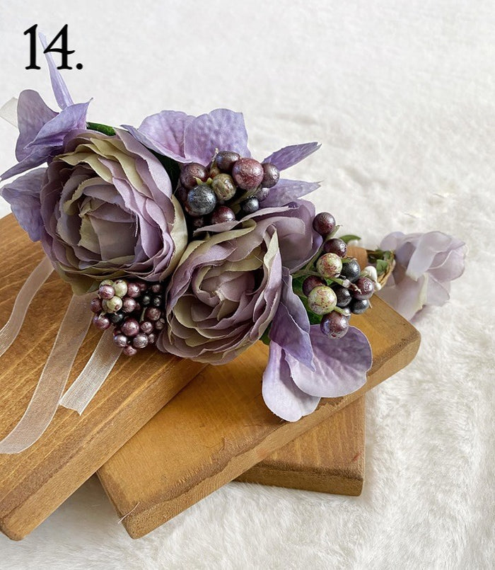 Floral Wreath - Purple Hues
