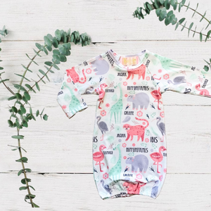 Baby Animals Sleep Gown
