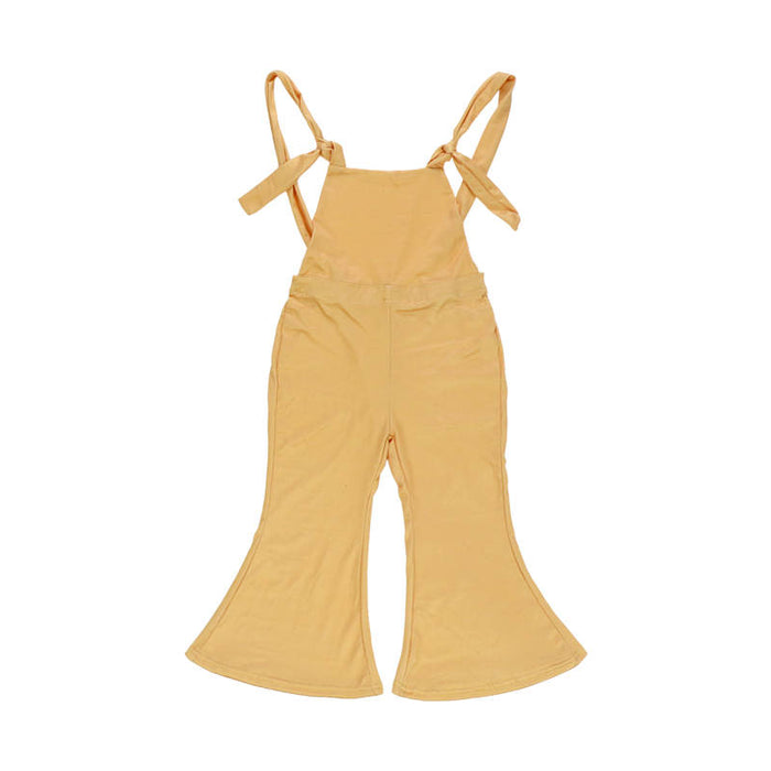 Mustard Creamsicle Knotted Jumpsuit