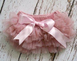 Dusty Rose Ruffled Diaper Cover