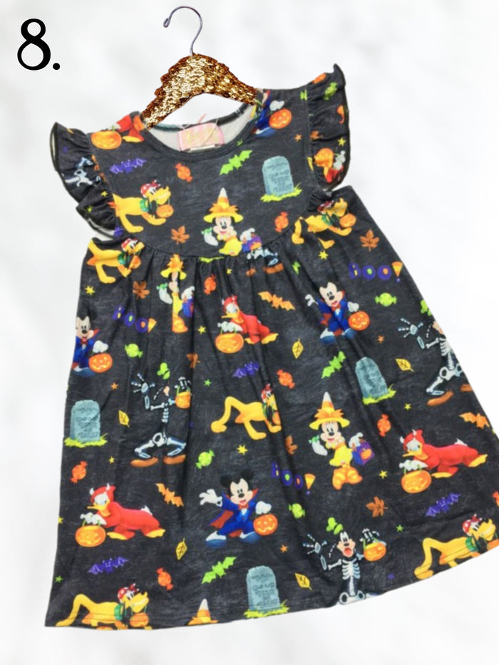 Mouse Trick or Treat Theme Park Inspired Fall Dress