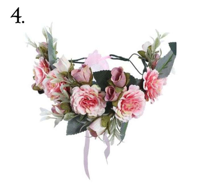 Floral Wreath - Pink & Green