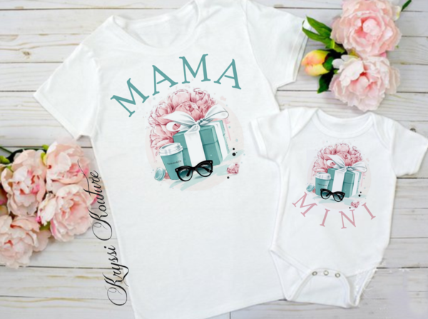 Mama's Little Mini Mother Daughter Twinning Designer Onesie/Shirt