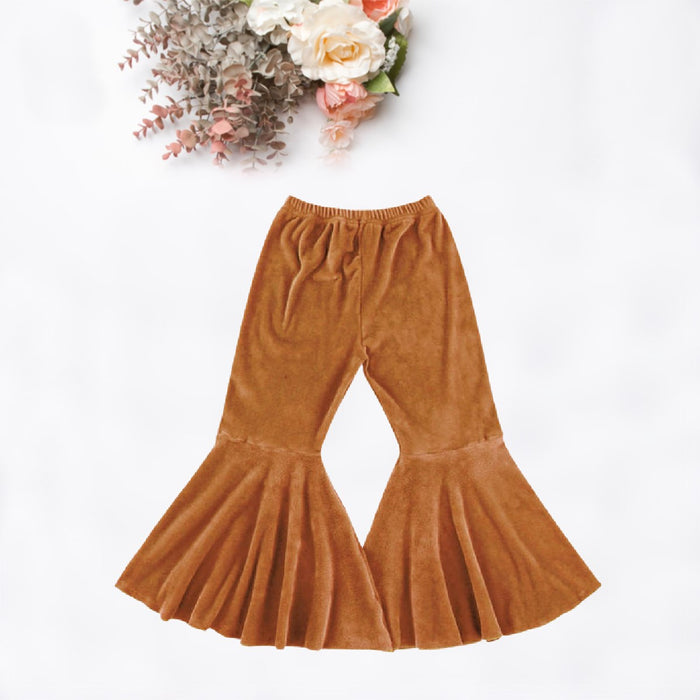 Rust Velvet Boho Bell Bottoms