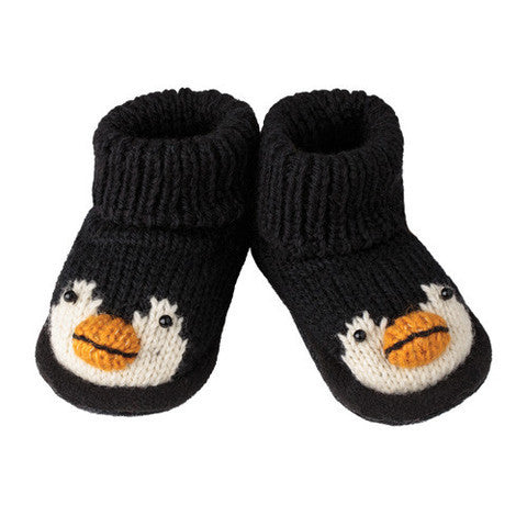 Knitwit Wool Slipper Boots - Penguin - Ruffles & Bowties Bowtique