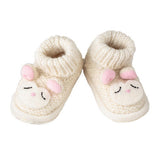 Knitwit Wool Slipper Boots - Lally Lamb,  - Ruffles & Bowties Bowtique