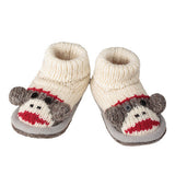 Knitwit Wool Slipper Boots - Sock Monkey - Ruffles & Bowties Bowtique - 2