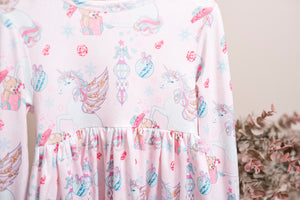 Unicorn Long Ruffles Sleeve Tunic/Dress
