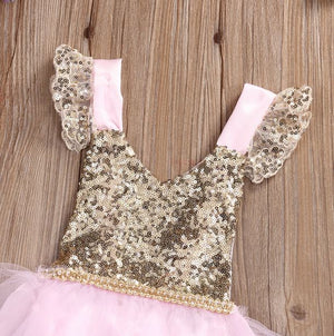 First Birthday Outfit Baby Girl Pink & Gold