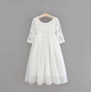 WHITE -  Veronica Soft White Eyelash Lace with Straight Skirt