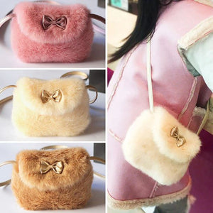 Girls Faux Fur Plush Purse