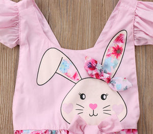 Pink Floral Bunny