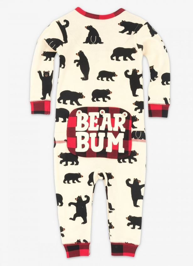 5fc74455e7c8 Black Bear and Buffalo Plaid Bear Bum Family Matching Onesies ...