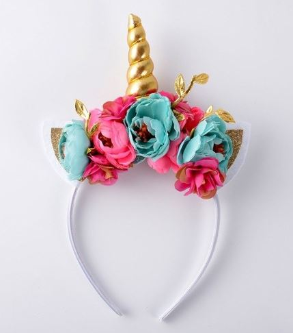 Aqua & Pink Splendid Unicorn Headband