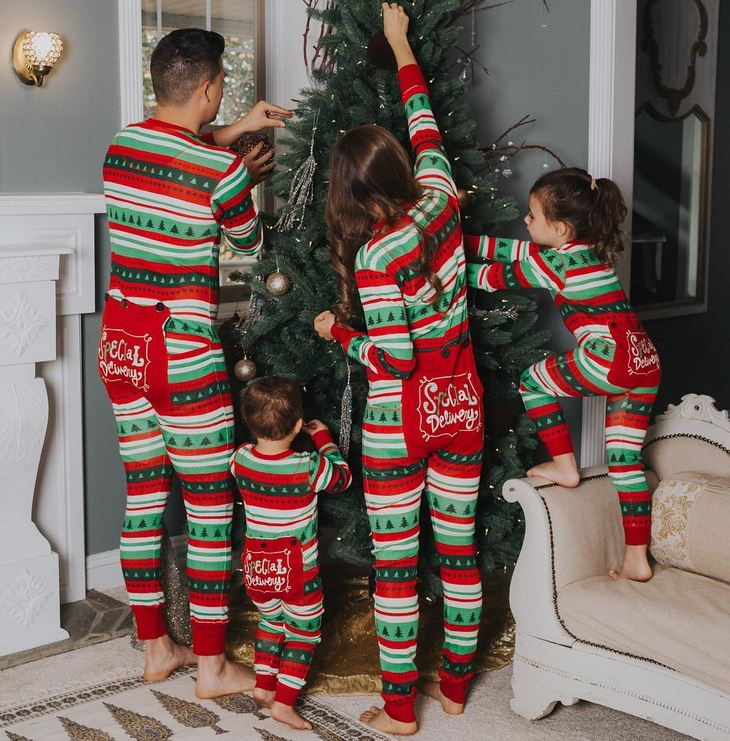 Summary: Matching family Christmas pajamas for mom, dad, and kids of all ages. Put them on Christmas Eve and open presents in them the next morning. We promise, you will treasure the pictures forever. They will also make great holiday photo cards!