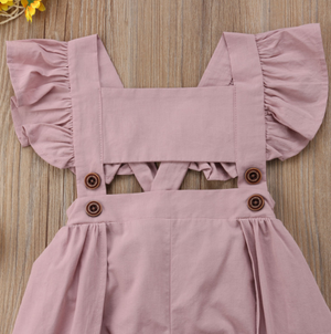 Kryssi Kouture Ariella Dusty Rose Panel Skirted Romper