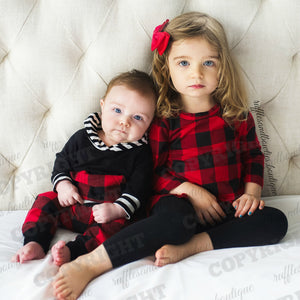 Girls Spencer Buffalo Plaid long sleeve Tunic