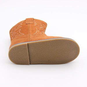 Kryssi Kouture Exclusive Tan Suede Leather Cowboy Boots