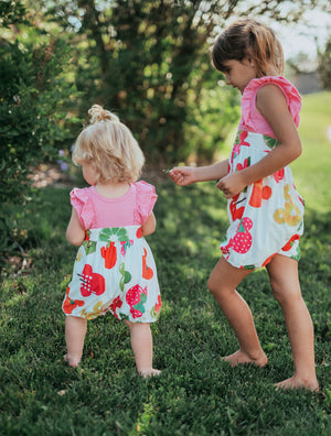 Mickey Fruit Character Bubble Romper - Sister Twinning