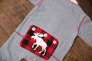 Baby Moose Buffalo Plaid Christmas Pajamas