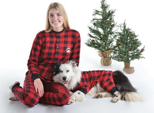 PRE ORDER - Lazy One Youth & Adult Buffalo Plaid BEAR CHEEKS Flapjack Matching Christmas Pj's - Ruffles & Bowties Bowtique - 5