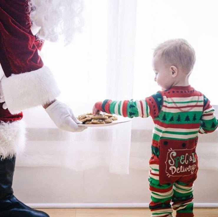 960013ab2c PRE ORDER - Lazy One Infant Special Delivery Flapjack Matching Christmas  Pj s - Ruffles   Bowties ...
