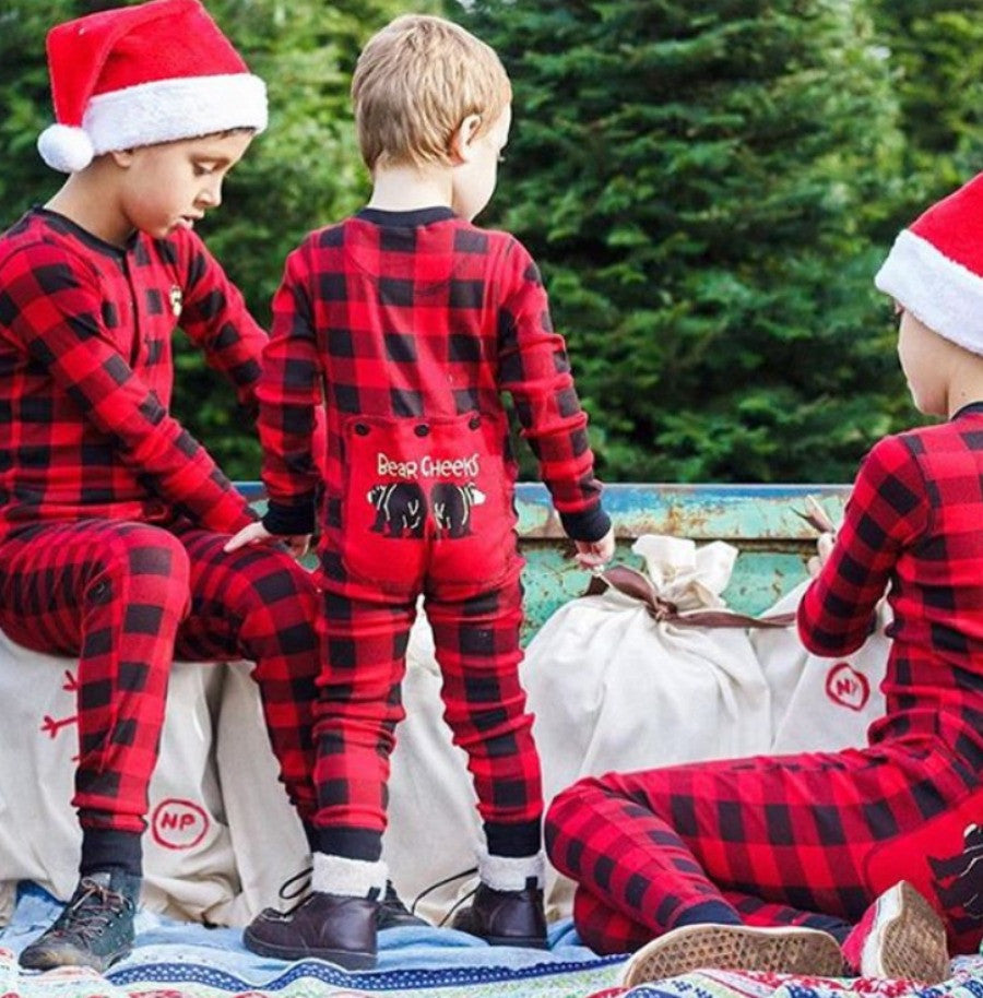 0b8e29a74 Christmas Matching Pajamas for Toddler- Kids Buffalo Plaid BEAR ...