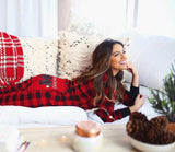 PRE ORDER - Lazy One Youth & Adult Buffalo Plaid BEAR CHEEKS Flapjack Matching Christmas Pj's - Ruffles & Bowties Bowtique - 3