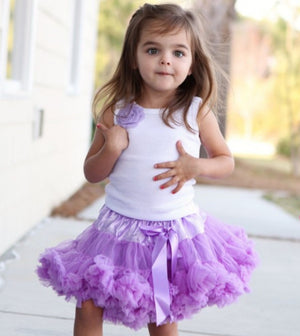 Soft Mauve Purple Tutu Pettie Skirt Bloomers - Pettie Coat - Birthday Outfit -  Birthday Outfit - Mermaid Birthday tutu - Ruffles & Bowties Bowtique - 2