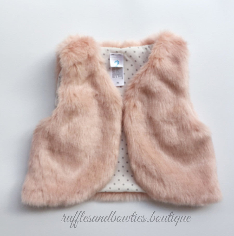 f0022693dc83 Baby Girl Boho Faux Fur Pink Fall Vests -The Faux Fur Vest - Baby ...
