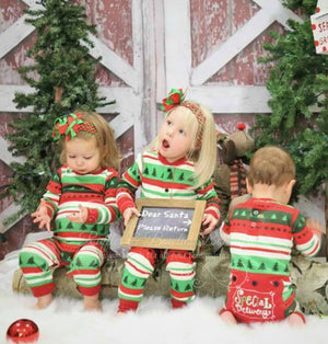 PRE ORDER - Lazy One Infant Special Delivery Flapjack Matching Christmas Pj's - Ruffles & Bowties Bowtique - Family Jammies Holiday Matching Pajamas Christmas Family PJS