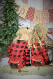 PRE ORDER - Lazy One Infant & Kids Buffalo Plaid BEAR CHEEKS Flapjack Matching Christmas Pj's - Ruffles & Bowties Bowtique - 1