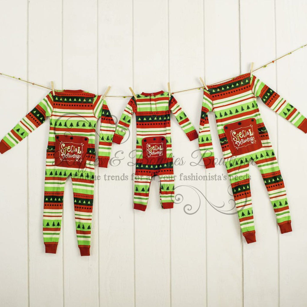 Shop Xmas Lazy One Pajamas for the Whole Family - Special Delivery