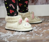 Knitwit Wool Slipper Boots - Lally Lamb - Ruffles & Bowties Bowtique - 1