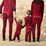 PRE ORDER - Lazy One Youth & Adult Buffalo Plaid BEAR CHEEKS Flapjack Matching Christmas Pj's - Ruffles & Bowties Bowtique - 1