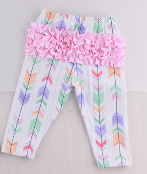 Brooklynn Boho Pastel Arrow Ruffle Bum Pants