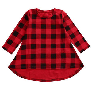 Girls Spencer Buffalo Plaid long sleeve Tunic - PRE ORDER