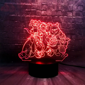 Winnie The Pooh Family Led Plugin Light