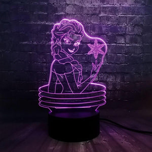 Frozen Elsa Head Led Plugin Light