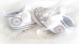 Crystal Rhinestone & Pearl High Tops, Girls Outfits - Ruffles & Bowties Bowtique